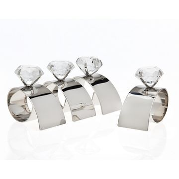 Arch Diamond Napkin Rings, Set of 4