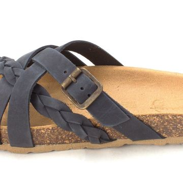 Wanderlust Womens Danika Leather Open Toe Casual Strappy, navy/marine , Size 6.0