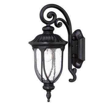 Acclaim Lighting Laurens 16.5-in H Matte Black Medium Base (E-26) Outdoor Wall Light