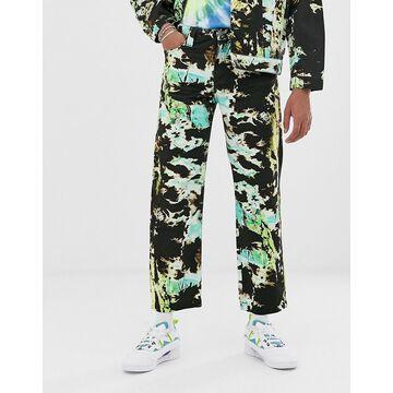 Jaded London two-piece jeans in tie dye-Black
