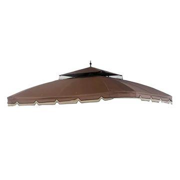 Sunjoy Replacement Canopy for Bay Window Gazebo (10'X12') L-GZ329PST-2