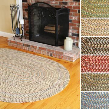 Cozy Cove Indoor/Outdoor Oval Braided Rug by Rhody Rug (5' x 8') - 5' x 8' Oval