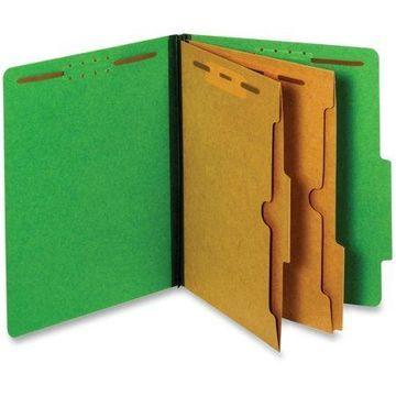 Pendaflex, PFX24083P, Pocket Divider Classification Folders, 10 / Box, Dark Green