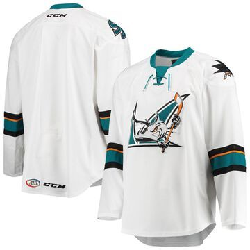 CCM San Jose Barracuda White Away Authentic Jersey