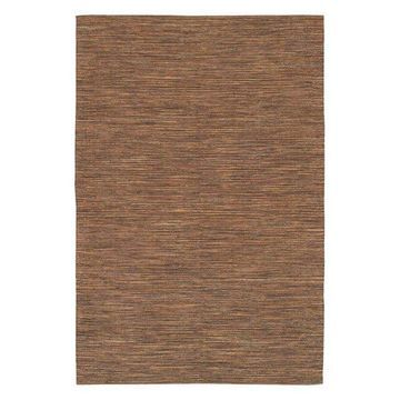 India Contemporary Area Rug, Brown, 7'9