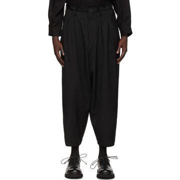 Yohji Yamamoto Black Wool 12 Tack Trousers