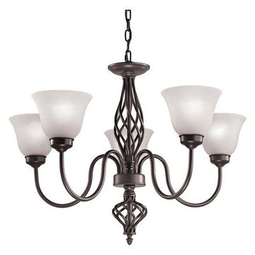 Cornerstone Santa Fe 5 Light Chandelier, Oil Rubbed Bronze