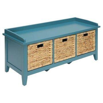 ACME Flavius Storage Bench, Teal