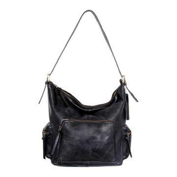 Nino Bossi Women's Willa Leather Shoulder Bag Black - US Women's One Size (Size None)