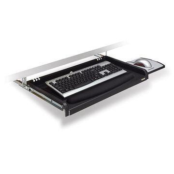 3M Underdesk Adjustable Keyboard Drawer With Wrist Rest, Black