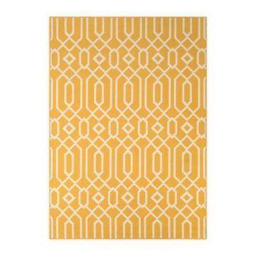 Momeni Baja Links 6'7 x 9'6 Indoor/Outdoor Area Rug in Yellow