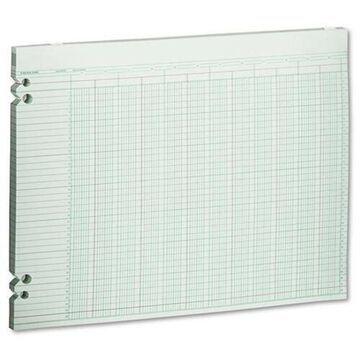 Wilson Jones WLJG3020 Wilson Jones Accounting Sheets, 20 Columns, 11 x 14, 100