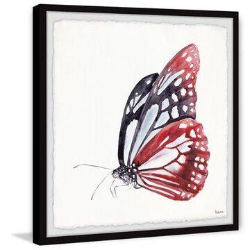 "Parvez Taj ""Big Red Butterfly"" Framed Painting Print"