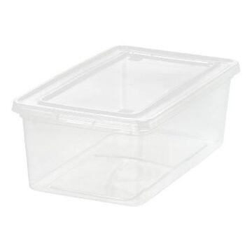 Iris 5qt Clear Storage Box - White