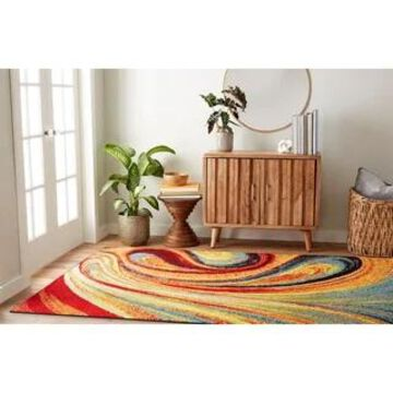 Home Dynamix Splash Adja Contemporary Abstract Area Rug (Multi 9'2