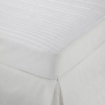 Martex Damask Stripe Full Mattress Pad In White