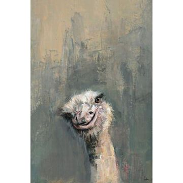 Marmont Hill Oh Ostrich 30-Inch x 20-Inch Canvas Wall Art