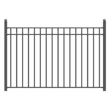 Aleko Madrid Iron Steel Fence 8'x5'