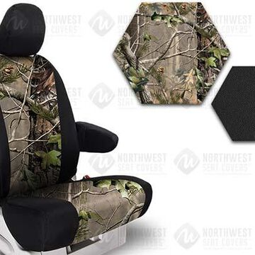 NorthWest Camo Seat Covers, 3rd-Row Seat Covers in Realtree AP Green w/ Black Sides, FF0