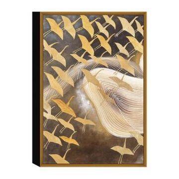 "Chic Home Decor Flying Birds 1 Piece Framed Canvas Wall Art Cranes -20"" x 15"""