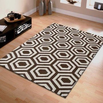 Superior Geometric Hand Tufted Wool Area Rug