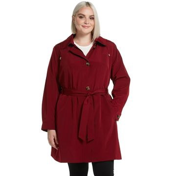 Plus Size Gallery Hooded Belted Trench Coat