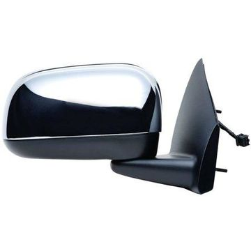 60139C - Fit System Passenger Side Mirror for 07-09 Chrysler Aspen (GTS code), black/ chrome, foldaway, Heated Power