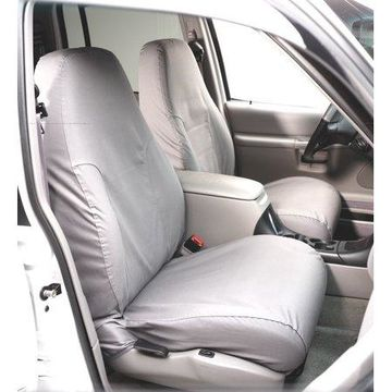 Covercraft SeatSaver Second Row Custom Fit Seat Cover for Select Ram Pickup Models - Polycotton (Charcoal)