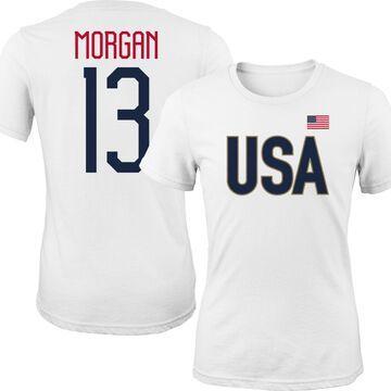 Outerstuff Women's USA Soccer Alex Morgan #13 Player White T-Shirt