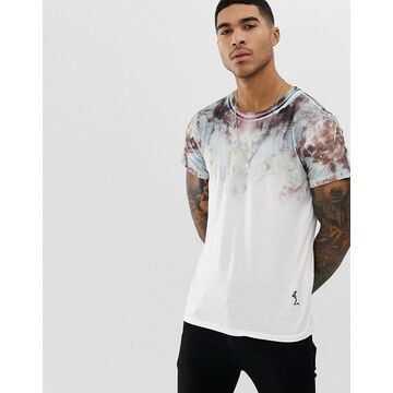 Religion t-shirt with oil slick fade print