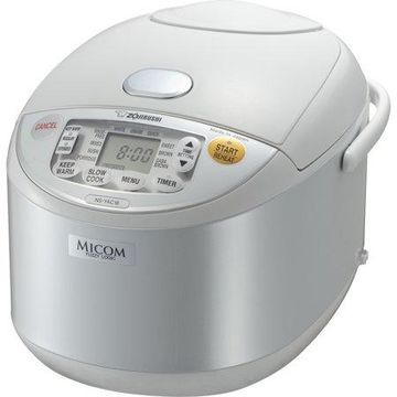 Zojirushi NS-YAC18WE Umami Micom Rice Cooker & Warmer, 10 Cup (Uncooked), Pearl White, Made in Japan