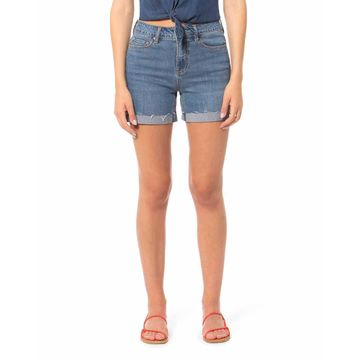 Liana High-Rise Frayed Denim Shorts