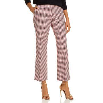 Derek Lam 10 Crosby Womens Galen Pants Checkered Straight Leg
