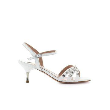 Roberto Festa Concordia White Leather Sandal