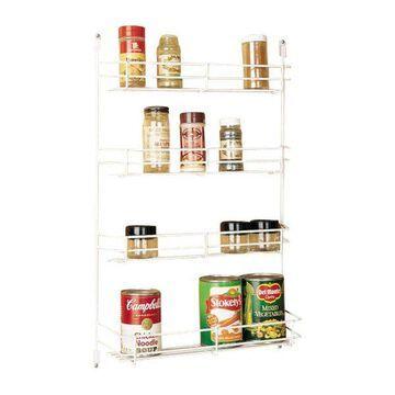 Rev-A-Shelf Door Mount Spice Rack, White, 10-5/8