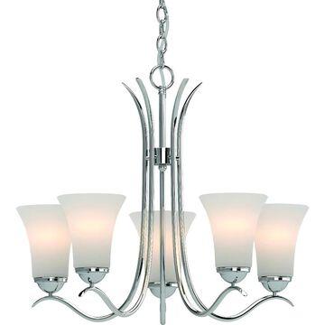 Volume Lighting Alesia 5-Light Indoor Polished Nickel Chandelier