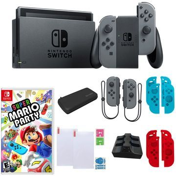 Nintendo Switch w/ Mario Party & Extra Joy-ConControllers
