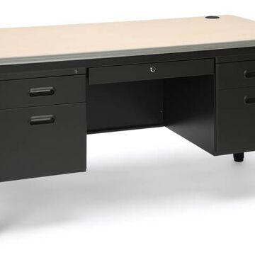 Double Pedestal Steel Desk by OFM