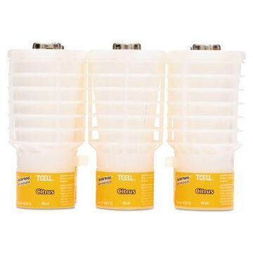 Rubbermaid Tcell MicroTrans Odor Neutralizer Refills, Citrus, 1.62 Ounce., 6-Pack, RCP402113