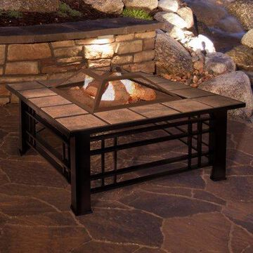 Fire Pit Set, Wood Burning Pit - Includes Spark Screen and Log Poker - Great for Outdoor and Patio by Pure Garden
