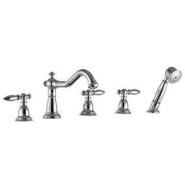ANZZI Patriarch Deck-Mount Roman Tub Faucet in Polished Chrome