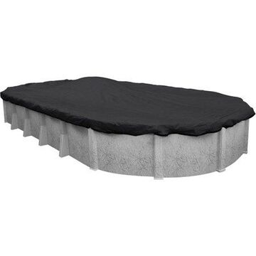 Robelle 10-Year Mesh Oval Winter Pool Cover, 18 x 40 ft. Pool
