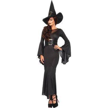 Leg Avenue Women's 2 Piece Wickedly Sexy Witch Costume, Black, Small/Medium