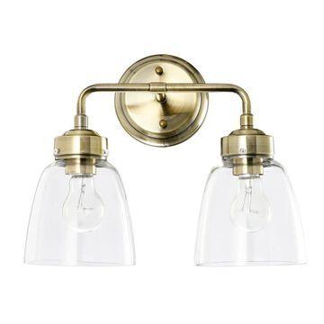 """Varaluz 341B02 Helena 2 Light 14"""" Wide Bathroom Vanity Light Antique Brass Indoor Lighting Bathroom Fixtures Vanity Light"""