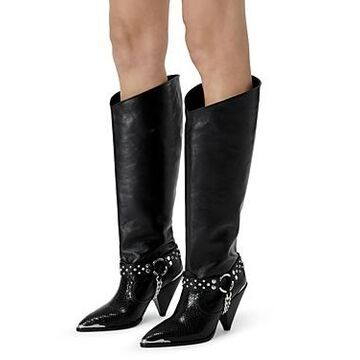 The Kooples Women's Pull On Embellished High Heel Boots