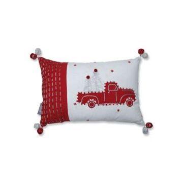Pillow Perfect Truck and Trees Lumbar Pillow