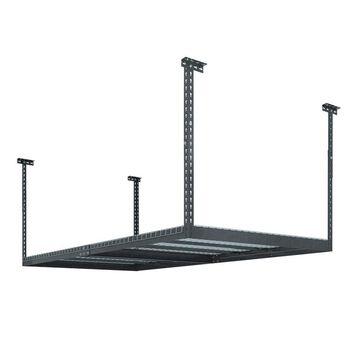 NewAge Products VersaRac 48-in W x 96-in D Gray Steel Overhead Garage Storage
