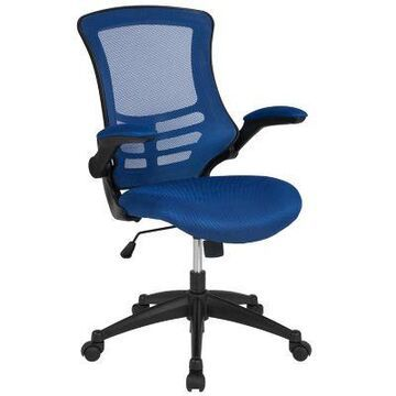 Flash Furniture Mid-Back Mesh Swivel Office Chair in Blue