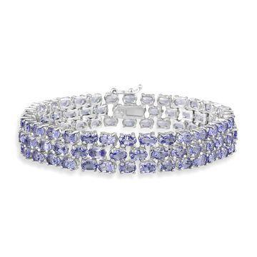 Glitzy Rocks Sterling Silver Tanzanite Bracelet (Tanzanite)