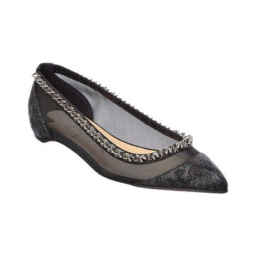 Christian Louboutin Spiked Leather Flat